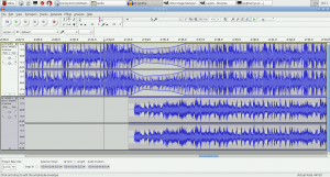 Audacity running on a Pi2