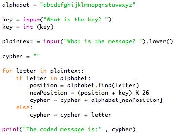 Caesar cypher in Python