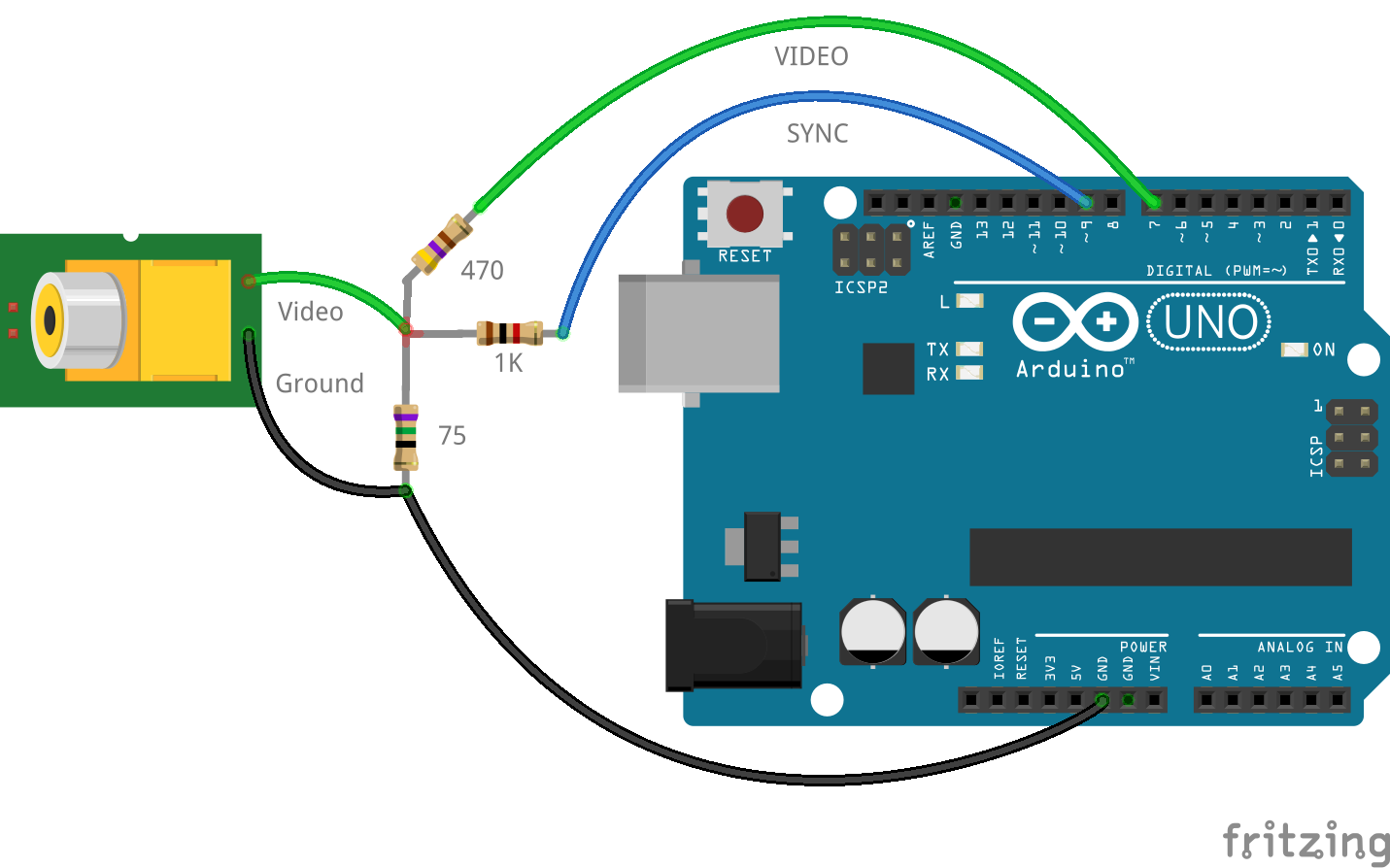 arduino composite video out using only 3 resistors blog my wiki rh suppertime co uk