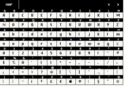 ChiKareGo font map 1