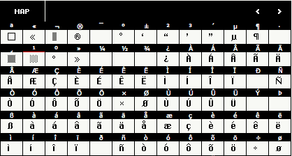 ChiKareGo font map 2
