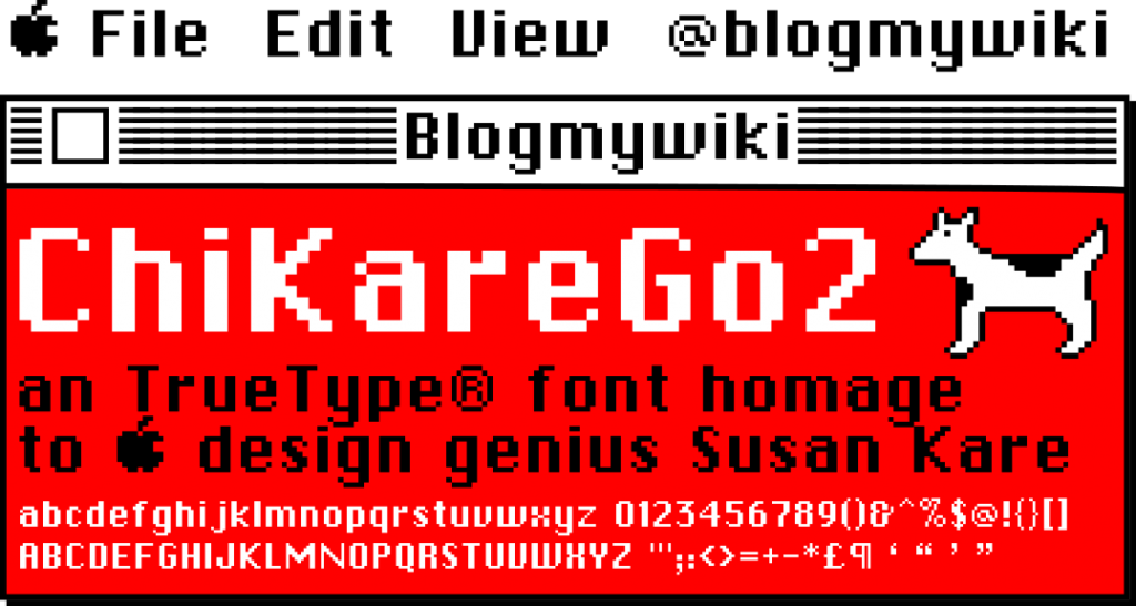Demo of ChiKareGo font