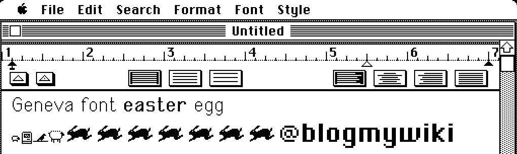geneva font easter egg