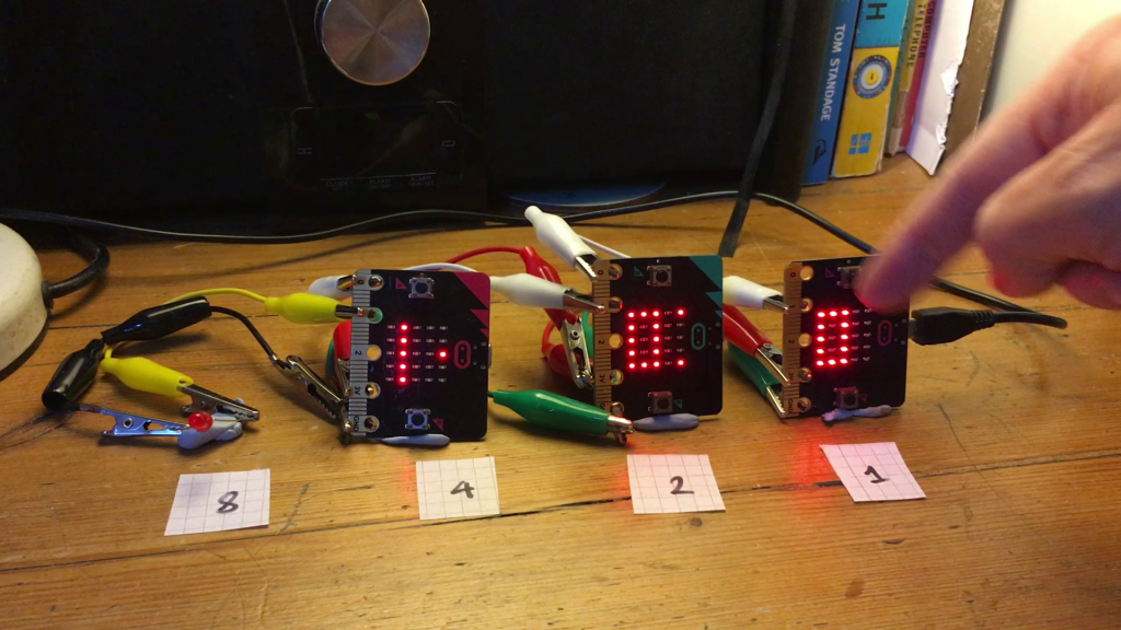 micro:bit adders joined together