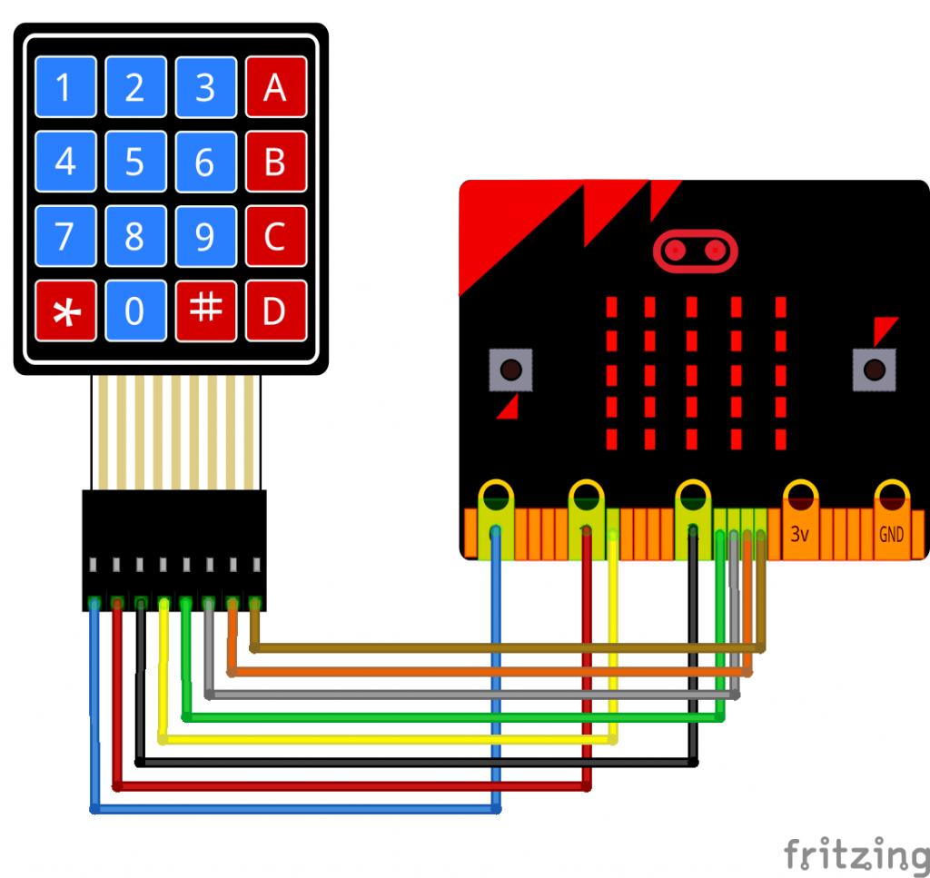 4x4 keypad wiring diagram
