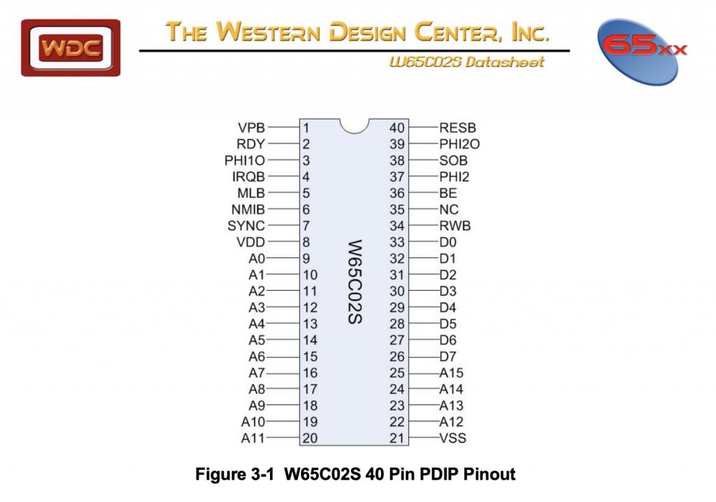 w65c02s pinout