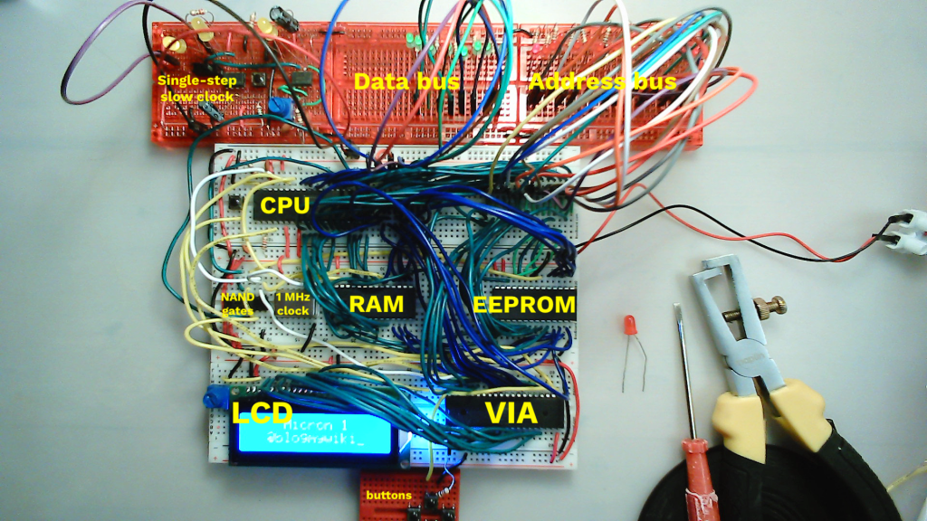 new layout of my 6502 breadboard computer