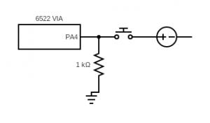 diagram of a pull-down resistor