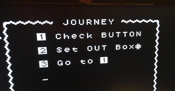 program to scan micro:bit button